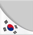 south korean flag background vector image vector image