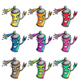 spray paint colors vector image vector image