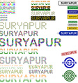 Suryapur text design set vector image vector image