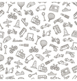 Transport pattern black icons vector image