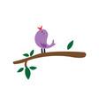 unique wild bird color design vector image vector image
