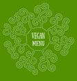 Vegan mandala vector image vector image