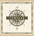 vintage compass label vector image vector image