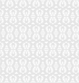 white seamless lace floral pattern on gray vector image vector image