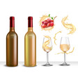 white wine serving set vector image vector image