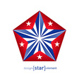 3d abstract star with Cuba flag colors vector image vector image