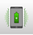 abstract drawing of a wireless mobile phone charge vector image vector image
