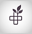 alternative medicine logo vector image vector image