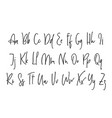 ballpen lettering alphabet vector image vector image
