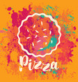 banner for pizza on the abstract background vector image vector image
