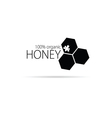 bee and honey in black color vector image vector image