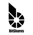 bitshares icon simple style vector image vector image