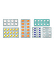 blister packs with pills and capsules vector image vector image