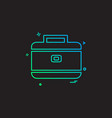 breifcase icon design vector image