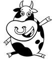 bull farm animal character coloring book vector image vector image
