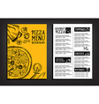 Cafe menu restaurant brochure Food design template vector image vector image