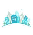 city fisheye lens styled panorama urban landscape vector image vector image