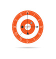 clock old orange vector image vector image
