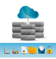 cloud computing data server base technology icons vector image