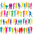 colorful silhouettes of women and men vector image