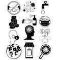 coronavirus bacteria icons 2019-ncov covid-19 vector image