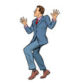 dancing businessman disco dance club music vector image vector image