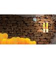 Dark stone dungeon Halloween background