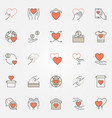 donation and charity colored icons set vector image vector image