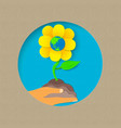 earth day paper cut flower nature concept vector image vector image