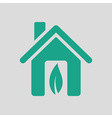 Ecological home leaf icon vector image vector image