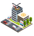 emergency isometric composition vector image vector image