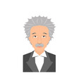 famous scientist portrait vector image