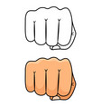 fist punch strong and power vector image vector image