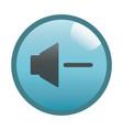 flat black decrease volume button icon vector image vector image