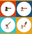 flat icon lawyer set of tribunal government vector image vector image