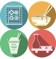 Flat icons for japanese food vector image vector image