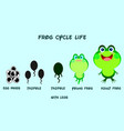 frog life cyclecartoon styleanimals life vector image