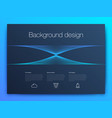 futuristic user interface ui technology vector image vector image