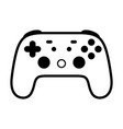gaming video game controller line icon vector image