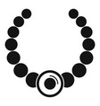 gemstone fashion necklace icon simple style vector image vector image