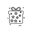 giftbox icon design vector image