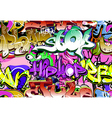 Graffiti wall seamless vector image
