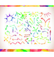 graphic signs colorful watercolor arrows vector image vector image