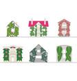 green wall and green facade systems vector image vector image