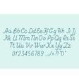 Hand drawin alphabet handwritting abc font vector image vector image