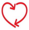 Heart line vector image vector image