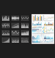 infographic visual representation data chart vector image vector image