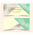 modern business card with triangle water color vector image vector image