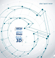Monochrome 3D lattice renew symbol loop sign vector image