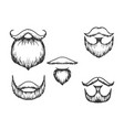 moustache and beard engraving vector image